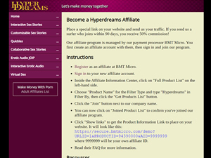 Hyperdreams Interactive Erotic Sex Stories Affiliate Program Reviews Affpaying Sign up to hyperdreams.com and help everyone, adding it to the list hyperdreams interactive erotic sex