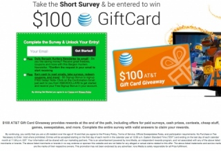 $100 AT&T Gift Card Giveaway (US) - Affiliate Program, CPA