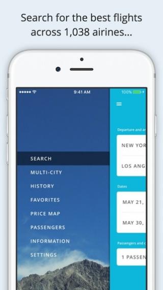 Jetradar flight booking mobile app - iOS - CPS - Jetradar flight
