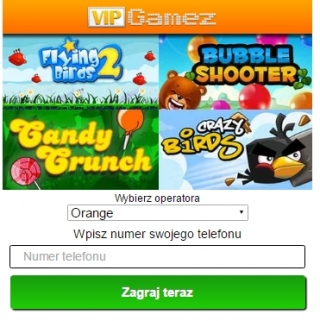 Whatsmob VIP Games WAP PL | 2-Click Flow/PIN Submit Mobile