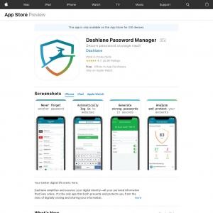 Dashlane Password Manager - US - Non - iOS [iOS] [US