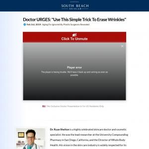 South Beach Skin Lab Erase Wrinkles