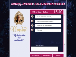 Maria Luna US - Free Psychic Reading - Affiliate Program